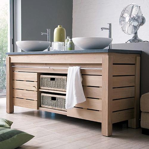Origin collection teck line art - Meuble salle de bain teck solde ...