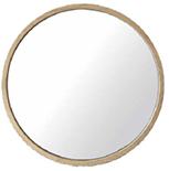Miroirs en teck line art - Miroir rond 50 cm ...