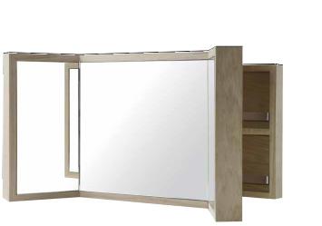 Armoire salle de bain miroir triptyque maison design for Armoire miroir salle de bain ikea