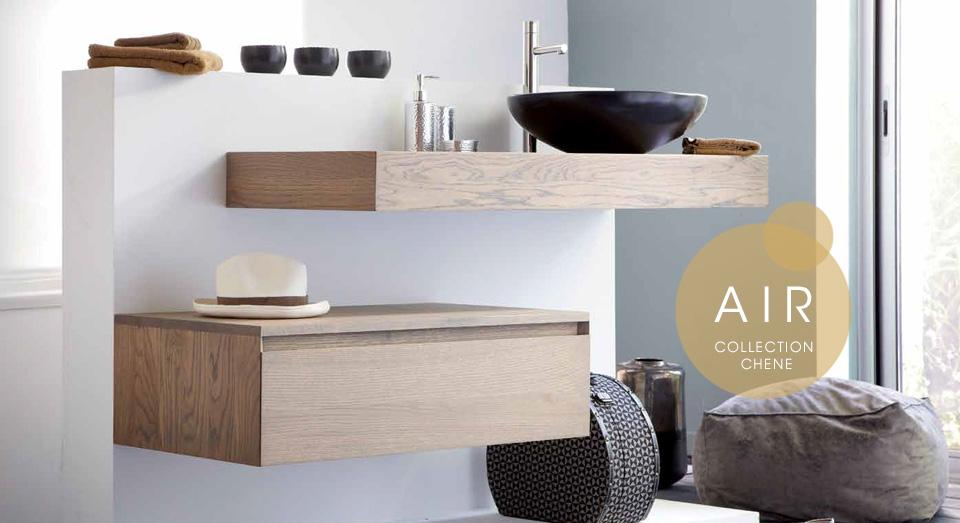 Mobilier de salle de bain en bois massif line art for Mobilier salle de bain bois